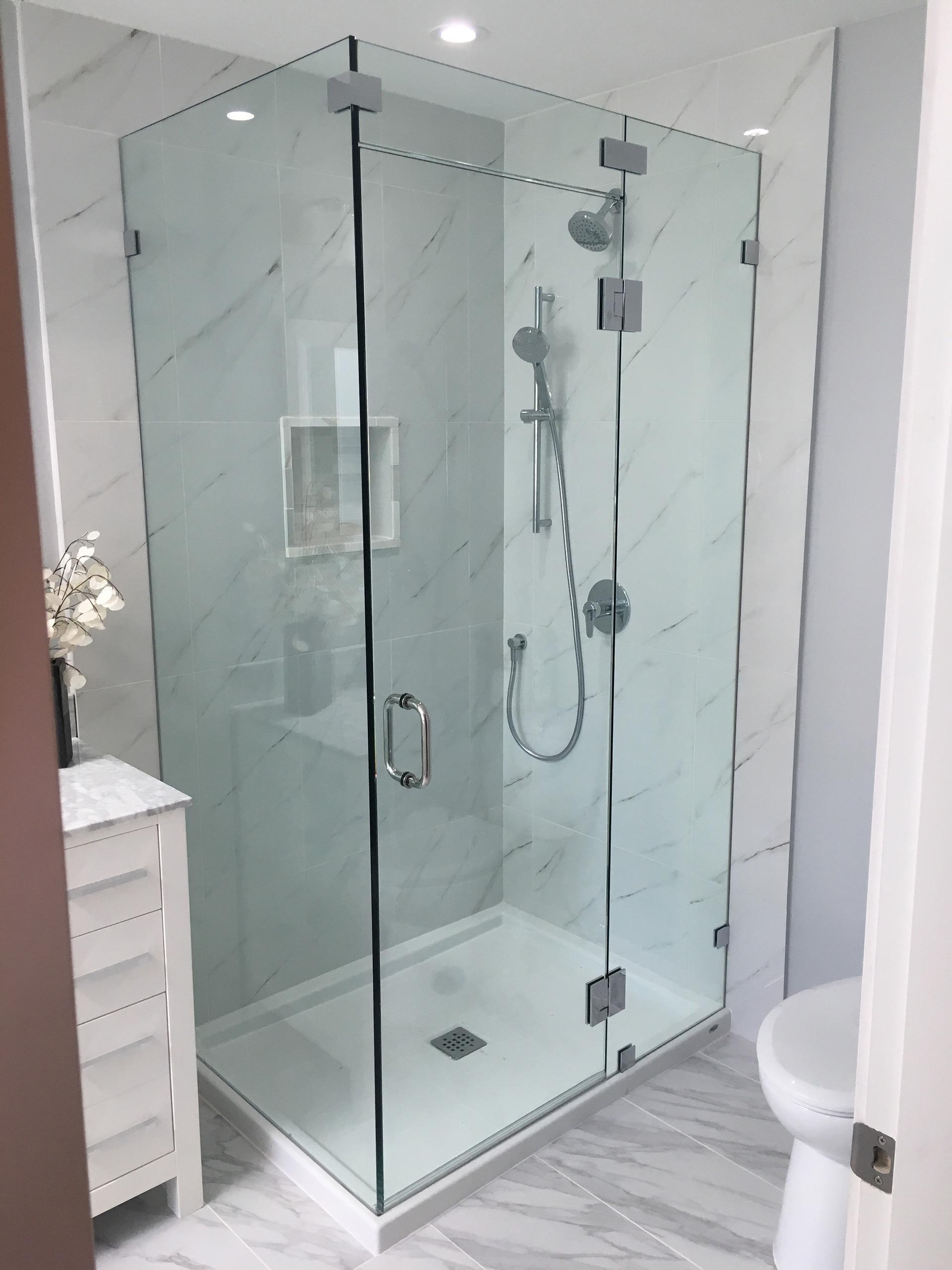 Panel Door Return Shower Valley West Glass