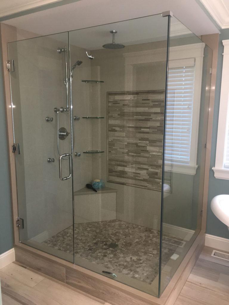 10mm Frameless Shower Door Panel Return Valley West Glass