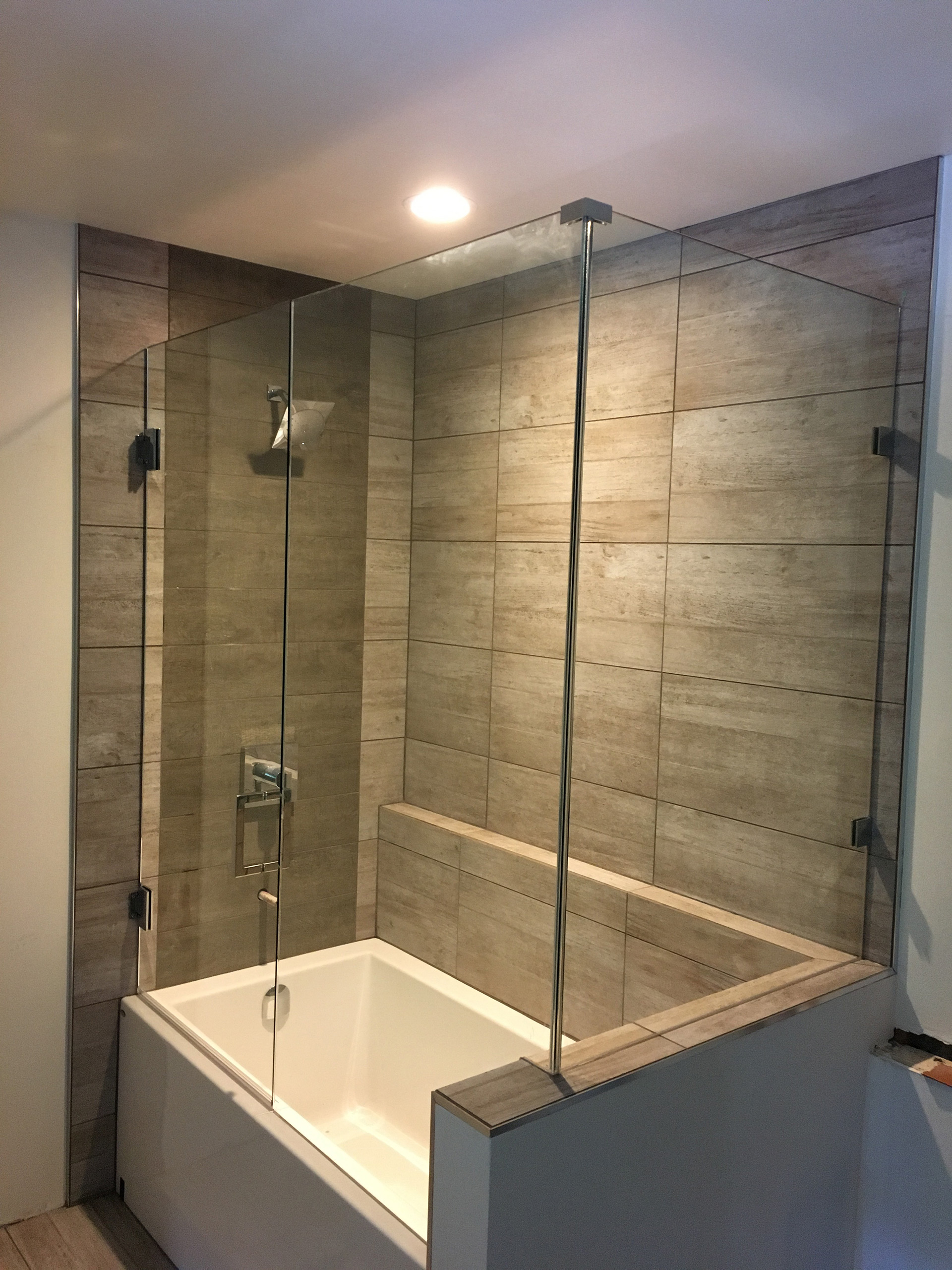 10mm Frameless Tub Shower Combination Valley West Glass