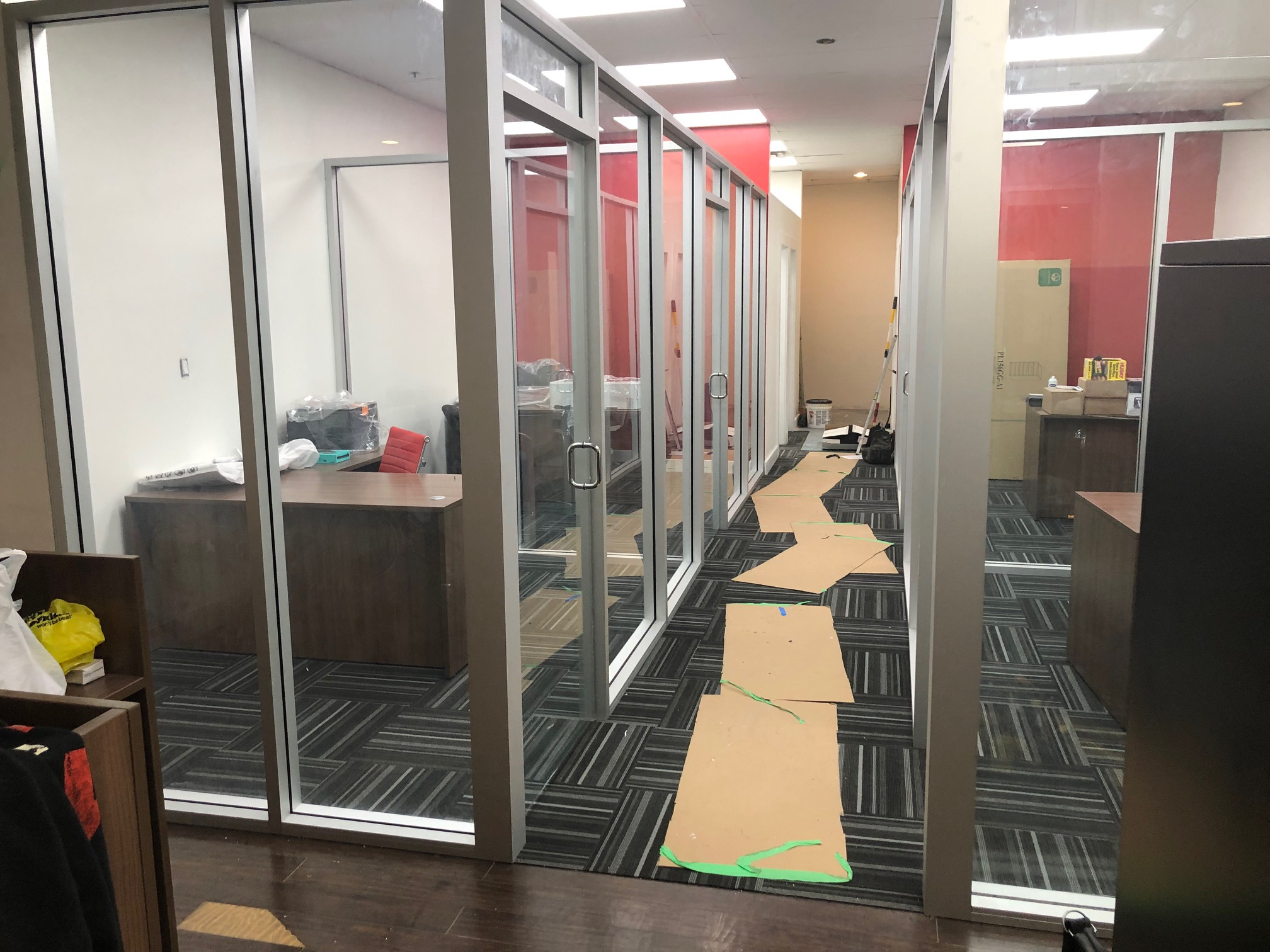 Storefront Windows And Doors interior storefront office dividers and frameless doors
